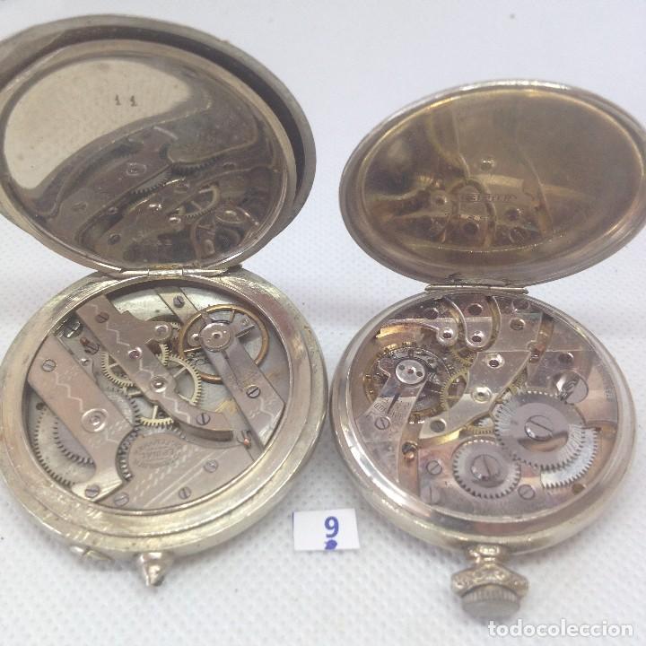 Relojes de bolsillo: LOTE - 9 .- 2 RELOJES DE BOLSILLO ANTIGUOS - Foto 4 - 170382716