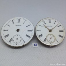 Relojes de bolsillo: LOTE .- 13 - 2 MAQUINARIAS RELOJ DE BOLSILLO ANTIGUAS.. Lote 170392828