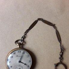 Relojes de bolsillo: RELOJ DE BOLSILLO,CHAPADO EN ORO,GROSVENOR,15 JEWELS. Lote 170439348