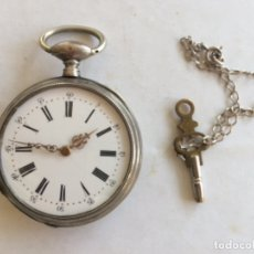Relojes de bolsillo: RELOJ BOLSILLO DE PLATA. Lote 120313778