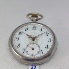 Relojes de bolsillo: LOTE .- 22 - ANTIGUO RELOJ DE BOLSILLO, PRINCIPIOS SIGLO XX. Lote 170507240