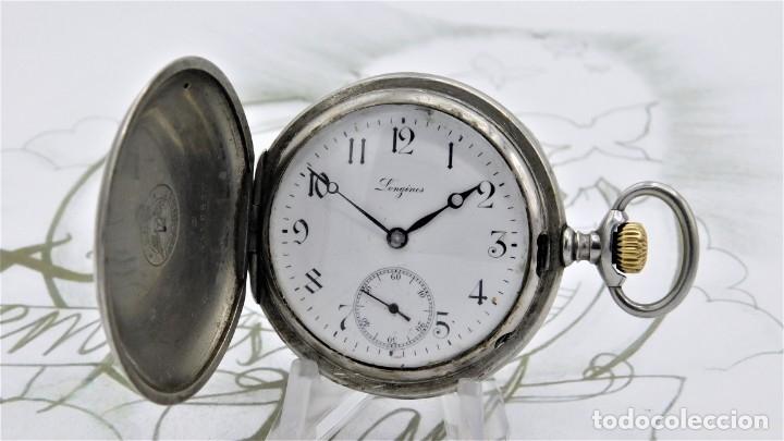 Relojes de bolsillo: LONGINES-RELOJ DE BOLSILLO-CIRCA 1908-15 RUBÍES-3 TAPAS-FUNCIONANDO - Foto 9 - 168305864