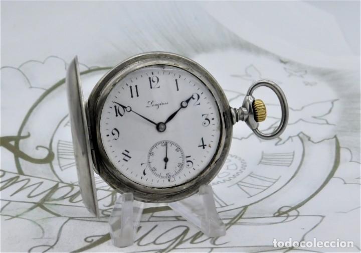 Relojes de bolsillo: LONGINES-RELOJ DE BOLSILLO-CIRCA 1908-15 RUBÍES-3 TAPAS-FUNCIONANDO - Foto 13 - 168305864