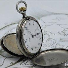 Relojes de bolsillo: LONGINES-RELOJ DE BOLSILLO-CIRCA 1908-15 RUBÍES-3 TAPAS-FUNCIONANDO. Lote 168305864