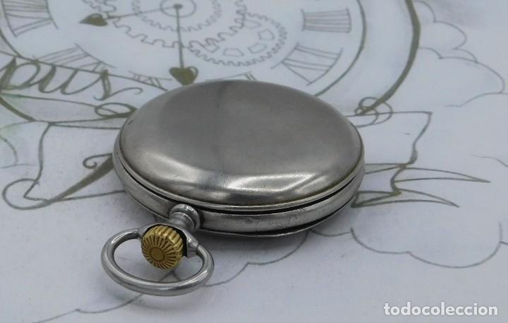 Relojes de bolsillo: LONGINES-RELOJ DE BOLSILLO-CIRCA 1908-15 RUBÍES-3 TAPAS-FUNCIONANDO - Foto 15 - 168305864