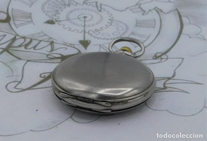 Relojes de bolsillo: LONGINES-RELOJ DE BOLSILLO-CIRCA 1908-15 RUBÍES-3 TAPAS-FUNCIONANDO - Foto 16 - 168305864