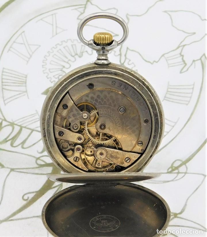 Relojes de bolsillo: LONGINES-RELOJ DE BOLSILLO-CIRCA 1908-15 RUBÍES-3 TAPAS-FUNCIONANDO - Foto 5 - 168305864