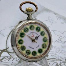 Relojes de bolsillo: LA CAMPANA-PRECIOSO Y GRAN RELOJ DE BOLSILLO ROSKPOF-SUIZO-CIRCA 1900-1920 -FUNCIONANDO. Lote 170861405