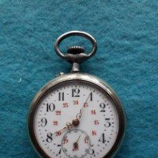 Relojes de bolsillo: RELOJ DE BOLSILLO ANTIGUO MARCA ARGENTAN. PARA CABALLERO. FUNCIONANDO. Lote 170933715