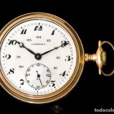 Relojes de bolsillo: MAGNIFICO RELOJ ANTIGUO DE BOLSILLO, DE ORIGEN AMERICANO DE LOS AÑOS 1900 Y FUNCIONANDO.. Lote 169022324