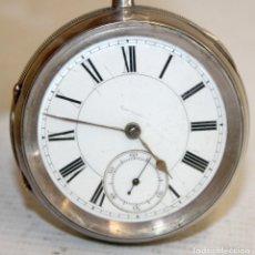 Relojes de bolsillo: RELOJ CATALINA INGLES DE PLATA - 1853. CON CADENA DE PLATA. FUNCIONANDO.. Lote 171169283