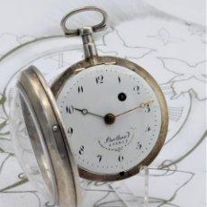 Relojes de bolsillo: BERTHOUD-MUY ANTIGUO RELOJ DE BOLSILLO CATALINO-CIRCA 1750-1790-DE PLATA-FUNCIONANDO. Lote 171200487