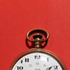 Relojes de bolsillo: RELOJ DE BOLSILLO NICIA PLAQUE DE ORO MGBM 4744. Lote 171241553