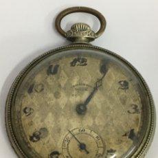 Relojes de bolsillo: RELOJ DE BOLSILLO CRONOMETRO WORD CARGA MANUAL MAQUINARIA SWISS MADE EN FUNCIONAMIENTO. Lote 171444129