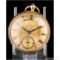 Relojes de bolsillo: ANTIGUO RELOJ DE BOLSILLO SEMI CATALINO JOHN B. CROSS, ORO 18K. LONDRES 1853. Lote 171496489