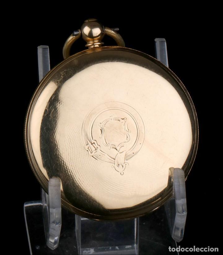Relojes de bolsillo: Antiguo Reloj de Bolsillo Semi Catalino John B. Cross, Oro 18K. Londres 1853 - Foto 4 - 171496489