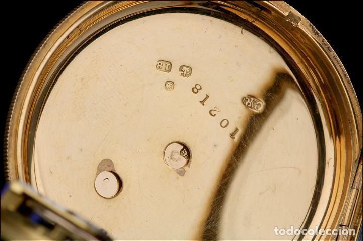 Relojes de bolsillo: Antiguo Reloj de Bolsillo Semi Catalino John B. Cross, Oro 18K. Londres 1853 - Foto 10 - 171496489