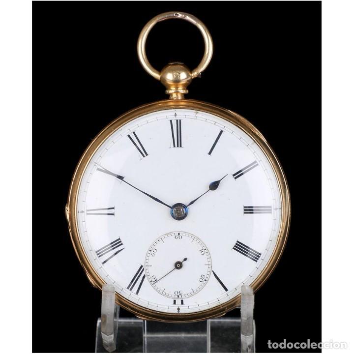 ANTIGUO RELOJ DE BOLSILLO ESCOCÉS EN ORO DE 18K POR DANIEL BUCHANAN. GLASGOW 1858 (Relojes - Bolsillo Carga Manual)