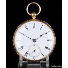 Relojes de bolsillo: ANTIGUO RELOJ DE BOLSILLO ESCOCÉS EN ORO DE 18K POR DANIEL BUCHANAN. GLASGOW 1858. Lote 171496677
