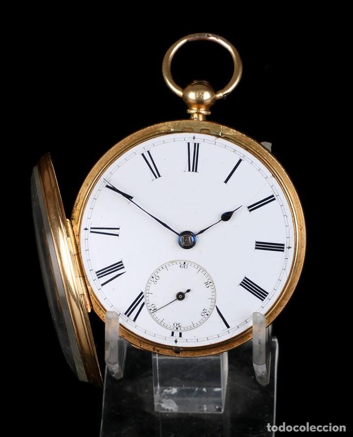 Relojes de bolsillo: Antiguo reloj de bolsillo escocés en oro de 18K por Daniel Buchanan. Glasgow 1858 - Foto 3 - 171496677