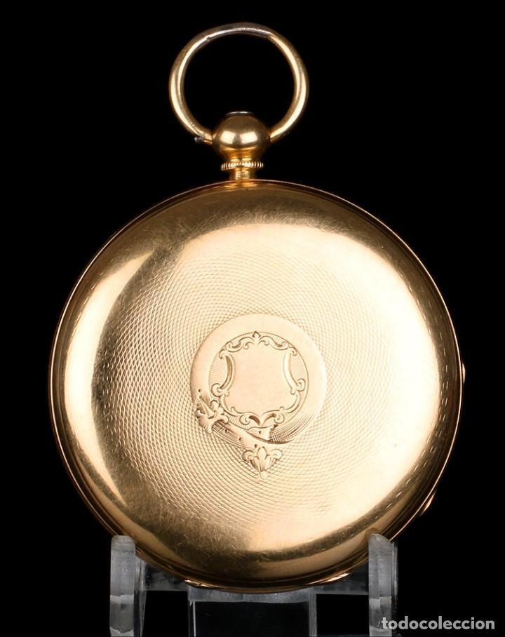 Relojes de bolsillo: Antiguo reloj de bolsillo escocés en oro de 18K por Daniel Buchanan. Glasgow 1858 - Foto 4 - 171496677