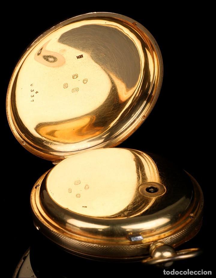Relojes de bolsillo: Antiguo reloj de bolsillo escocés en oro de 18K por Daniel Buchanan. Glasgow 1858 - Foto 5 - 171496677