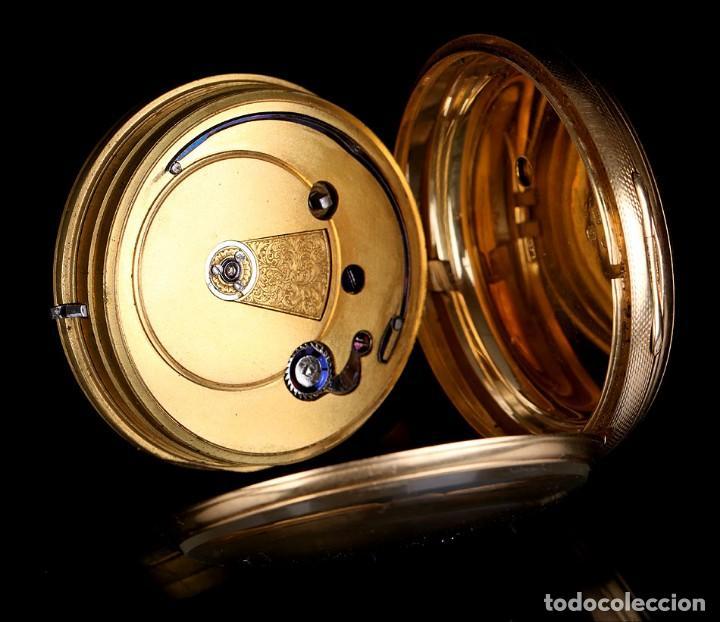 Relojes de bolsillo: Antiguo reloj de bolsillo escocés en oro de 18K por Daniel Buchanan. Glasgow 1858 - Foto 7 - 171496677