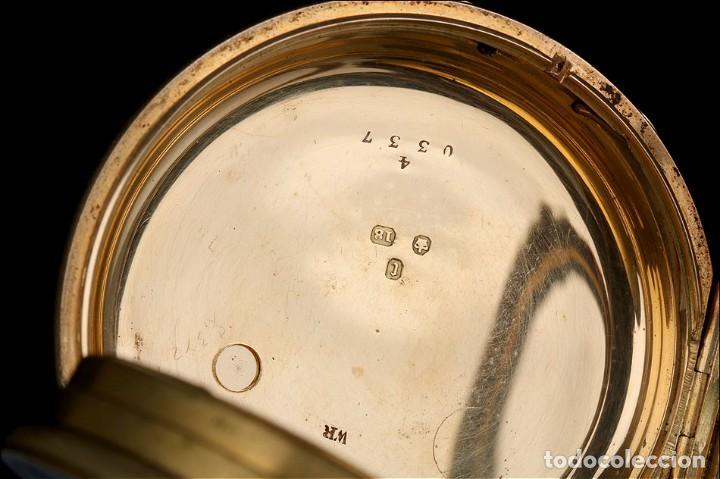 Relojes de bolsillo: Antiguo reloj de bolsillo escocés en oro de 18K por Daniel Buchanan. Glasgow 1858 - Foto 8 - 171496677