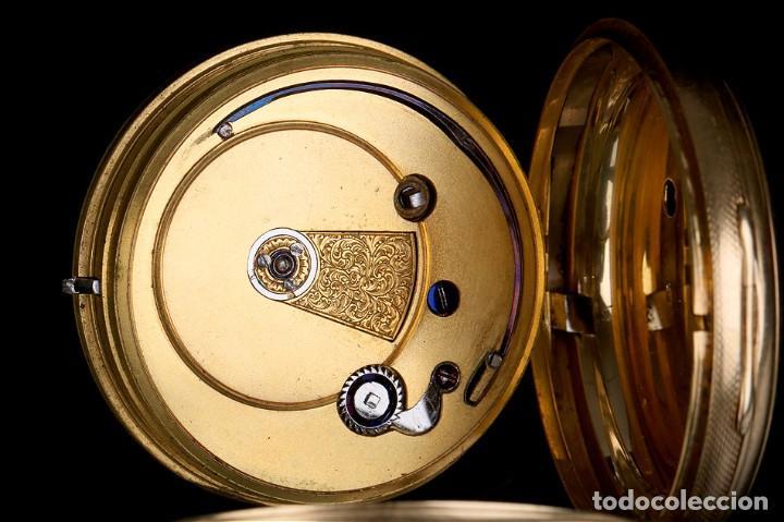 Relojes de bolsillo: Antiguo reloj de bolsillo escocés en oro de 18K por Daniel Buchanan. Glasgow 1858 - Foto 10 - 171496677