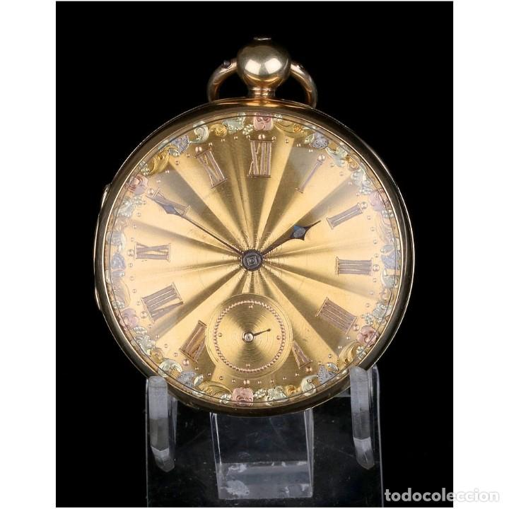 ANTIGUO RELOJ DE BOLSILLO EN ORO DE 18K. HENRY SHARPLES. INGLATERRA, 1833 (Relojes - Bolsillo Carga Manual)