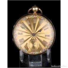 Relojes de bolsillo: ANTIGUO RELOJ DE BOLSILLO EN ORO DE 18K. HENRY SHARPLES. INGLATERRA, 1833. Lote 171497823