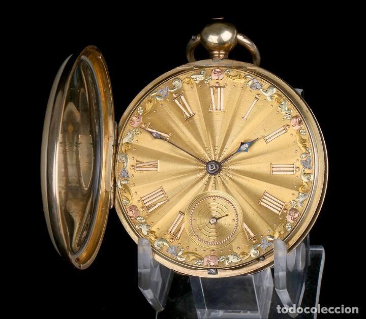 Relojes de bolsillo: Antiguo Reloj de Bolsillo en Oro de 18K. Henry Sharples. Inglaterra, 1833 - Foto 3 - 171497823