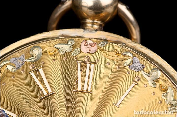 Relojes de bolsillo: Antiguo Reloj de Bolsillo en Oro de 18K. Henry Sharples. Inglaterra, 1833 - Foto 5 - 171497823