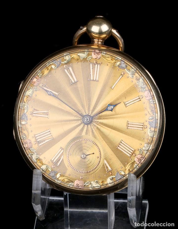 Relojes de bolsillo: Antiguo Reloj de Bolsillo en Oro de 18K. Henry Sharples. Inglaterra, 1833 - Foto 6 - 171497823