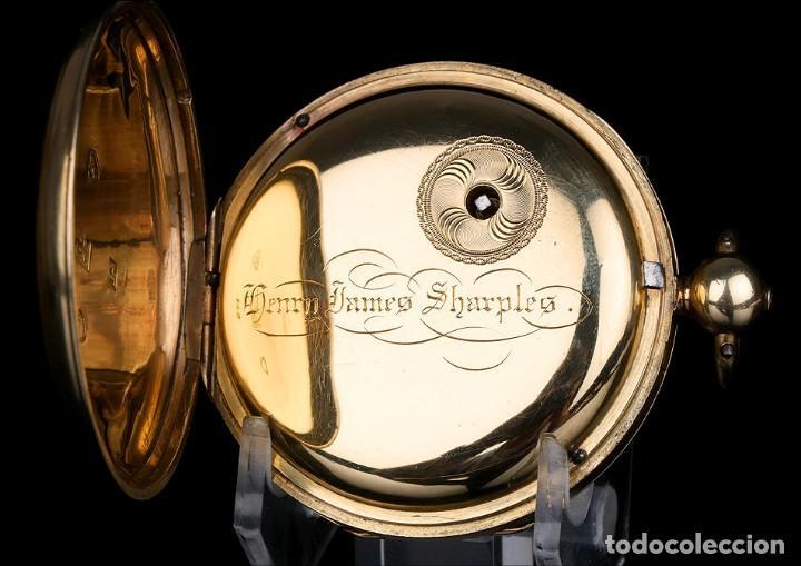 Relojes de bolsillo: Antiguo Reloj de Bolsillo en Oro de 18K. Henry Sharples. Inglaterra, 1833 - Foto 8 - 171497823