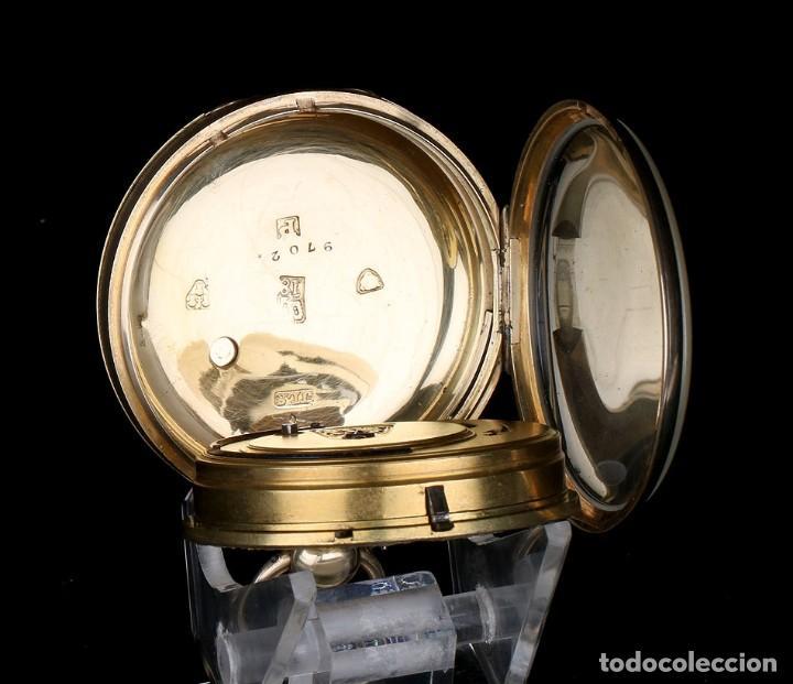 Relojes de bolsillo: Antiguo Reloj de Bolsillo en Oro de 18K. Henry Sharples. Inglaterra, 1833 - Foto 11 - 171497823