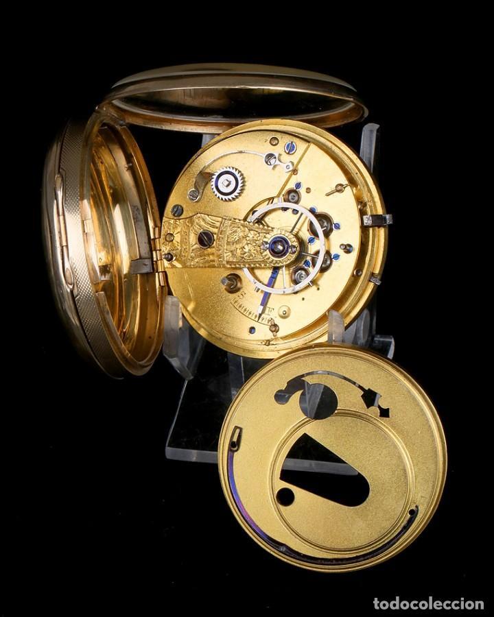 Relojes de bolsillo: Antiguo Reloj de Bolsillo en Oro de 18K. Henry Sharples. Inglaterra, 1833 - Foto 14 - 171497823