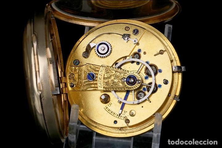 Relojes de bolsillo: Antiguo Reloj de Bolsillo en Oro de 18K. Henry Sharples. Inglaterra, 1833 - Foto 15 - 171497823