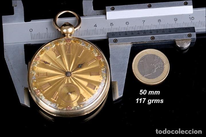 Relojes de bolsillo: Antiguo Reloj de Bolsillo en Oro de 18K. Henry Sharples. Inglaterra, 1833 - Foto 16 - 171497823