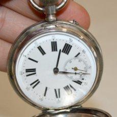 Relojes de bolsillo: RELOJ DE BOLSILLO DE PLATA CON 3 TAPAS - 1880 - FUNCIONANDO.. Lote 171514627
