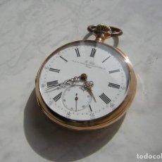 Relojes de bolsillo: RELOJ DE BOLSILLO SUIZO A.PETIT PARIS DE ORO 18K AÑO 1890. Lote 171543054