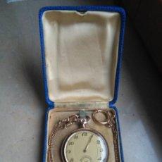 Relojes de bolsillo: RELOJ ANTIGUO CHAPADO EN ORO DE BOLSILLO. Lote 171545340