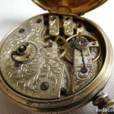 Relojes de bolsillo: RELOJ DE BOLSILLO DE PLATA L´EPLATTENIER LONDONE MÁQUINA CINCELADA 1880 APROX.. Lote 171987047