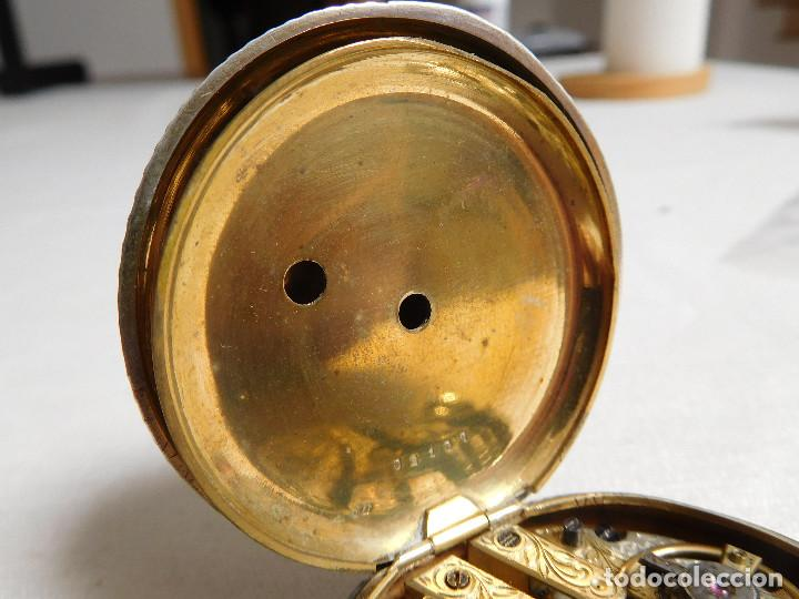 Relojes de bolsillo: Reloj de bolsillo de plata L´eplattenier Londone máquina cincelada 1880 aprox. - Foto 18 - 171987047