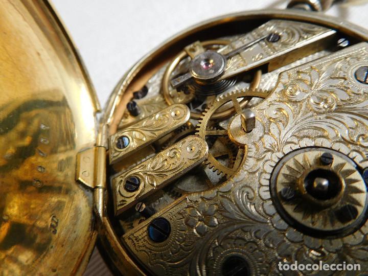 Relojes de bolsillo: Reloj de bolsillo de plata L´eplattenier Londone máquina cincelada 1880 aprox. - Foto 22 - 171987047