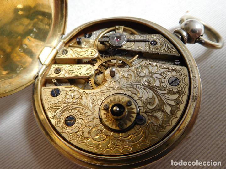 Relojes de bolsillo: Reloj de bolsillo de plata L´eplattenier Londone máquina cincelada 1880 aprox. - Foto 23 - 171987047