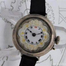 Relojes de bolsillo: FANTÁSTICO RELOJ SUIZO DE BOLSILLO/PULSERA-DE PLATA-CIRCA 1890-FUNCIONANDO. Lote 172115589
