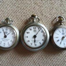 Relojes de bolsillo: LOTE 3 CUERVO Y SOBRINOS. Lote 172130837