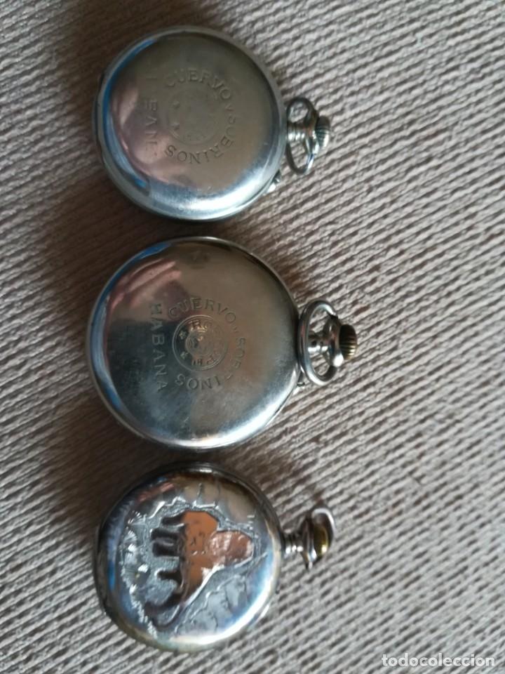 Relojes de bolsillo: Lote 3 Cuervo y Sobrinos - Foto 2 - 172130837