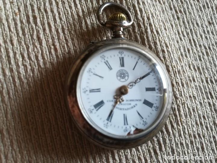 Relojes de bolsillo: Lote 3 Cuervo y Sobrinos - Foto 13 - 172130837
